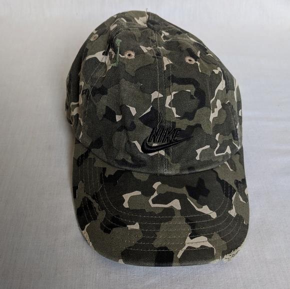 f495366cb7 Nike camo strapback dad hat basebal cap camouflage.  M 5c6232b7fe51517b5226a4f1